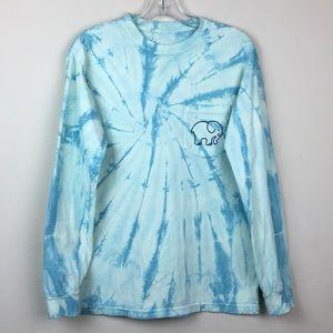 Ivory Ella Tie Dye Long Sleeve Elephant T-shirt